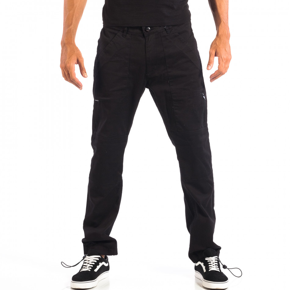 Ανδρικό μαύρο παντελόνι CROPP lp060818-93