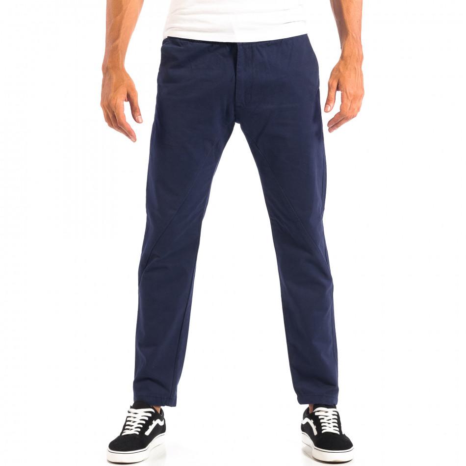 Ανδρικό μπλε Chino παντελόνι RESERVED lp060818-91