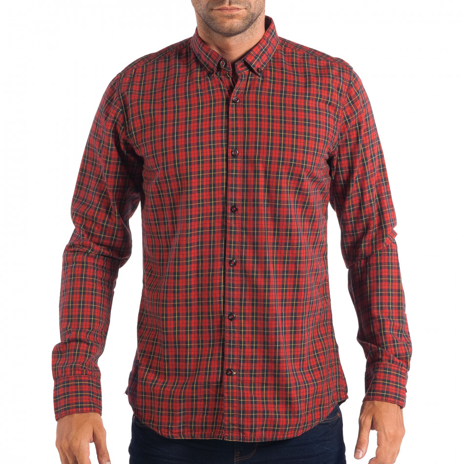 Ανδρικό κόκκινο πουκάμισο CROPP lp070818-107