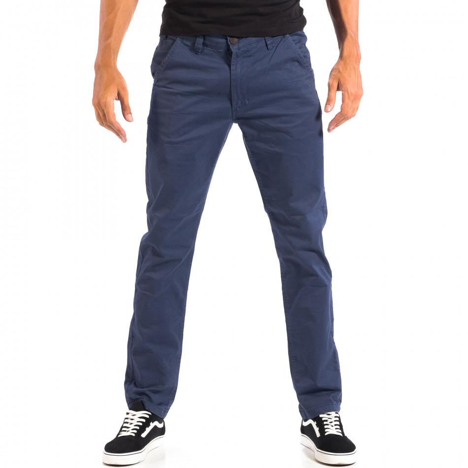 Ανδρικό μπλε Chino παντελόνι CROPP lp060818-100