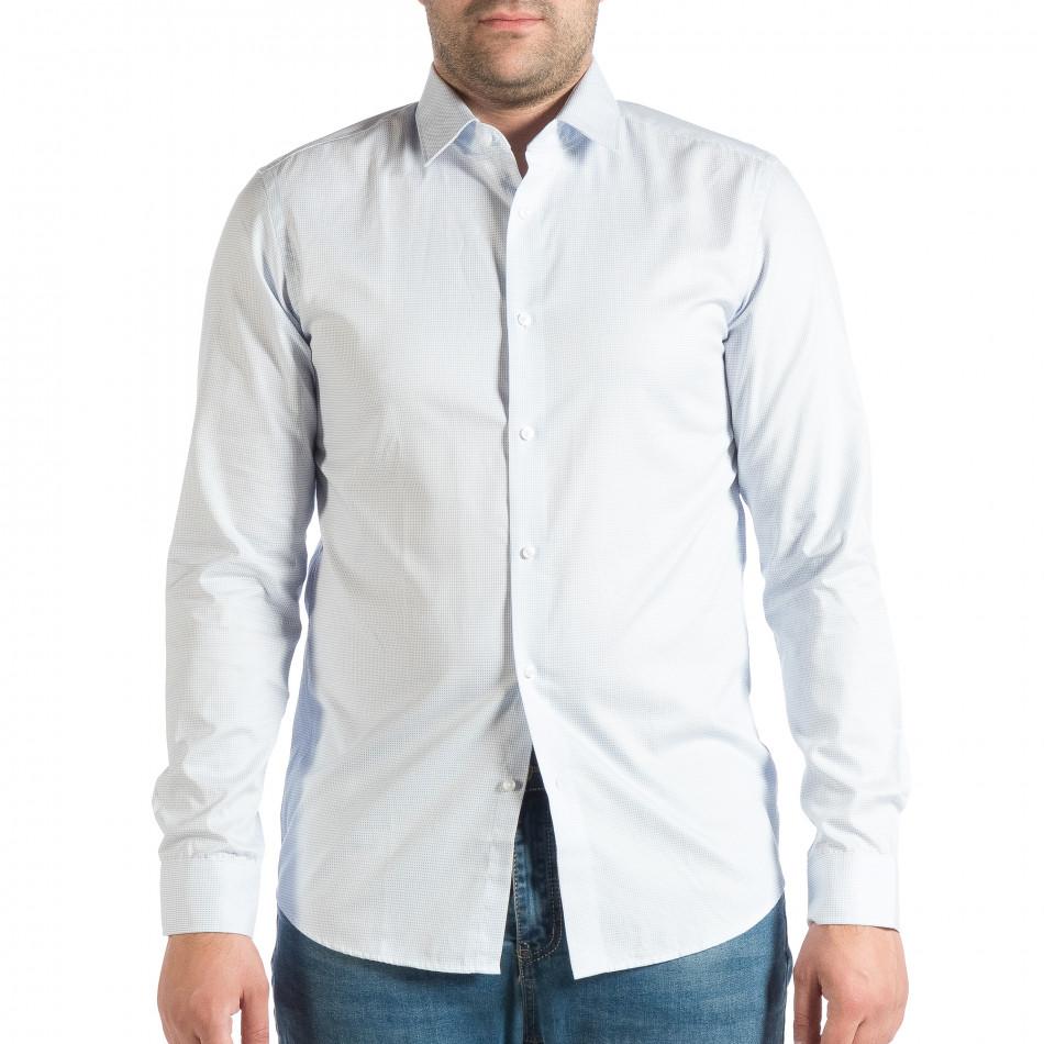 Ανδρικό γαλάζιο πουκάμισο RESERVED lp290918-180