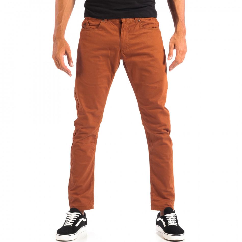 Ανδρικό λεπτό παντελόνι σε χρώμα camel CROPP lp060818-109