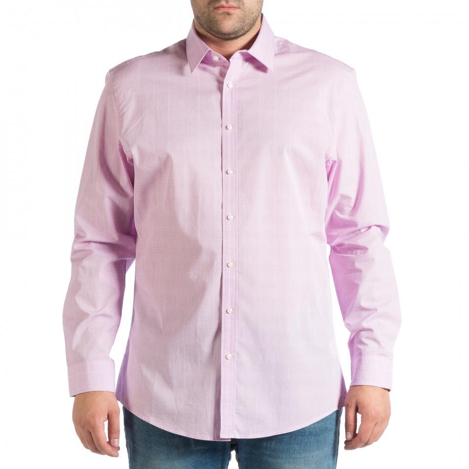 Ανδρικό μωβ πουκάμισο lp290918-173