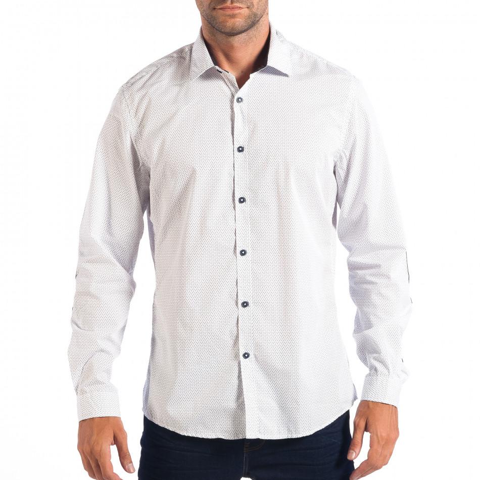 Ανδρικό λευκό πουκάμισο RESERVED lp070818-147