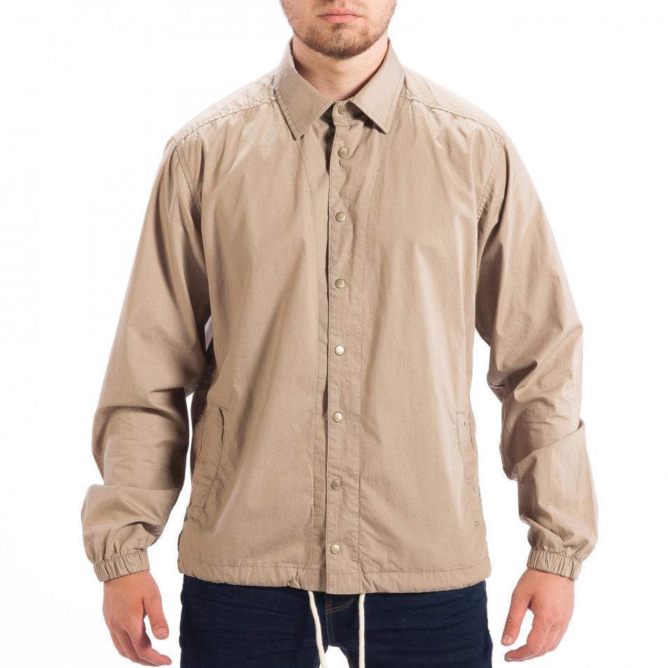 3c61e36aff1f Ανδρικό μπεζ Regular fit πουκάμισο τύπου μπουφάν RESERVED lp070818 ...