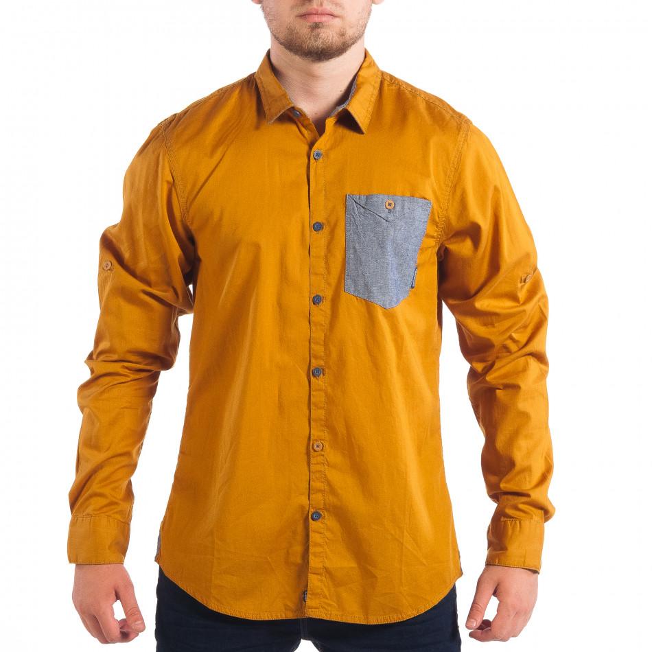 Ανδρικό camel πουκάμισο CROPP lp070818-102