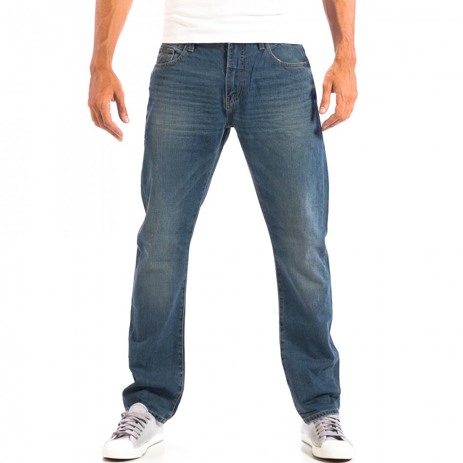Ανδρικό μπλε τζιν στυλ Vintage lp060818-36