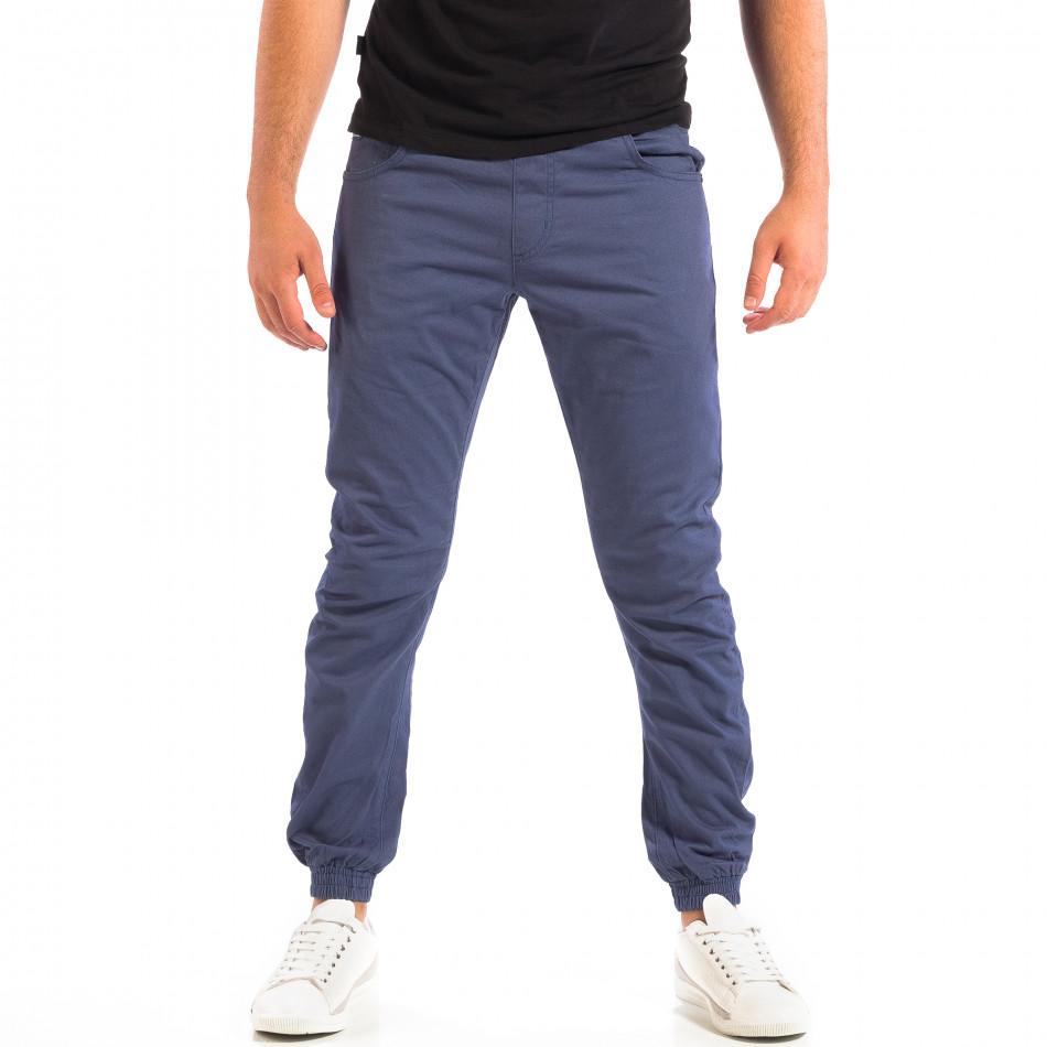Ανδρικό γαλάζιο παντελόνι CROPP lp060818-136
