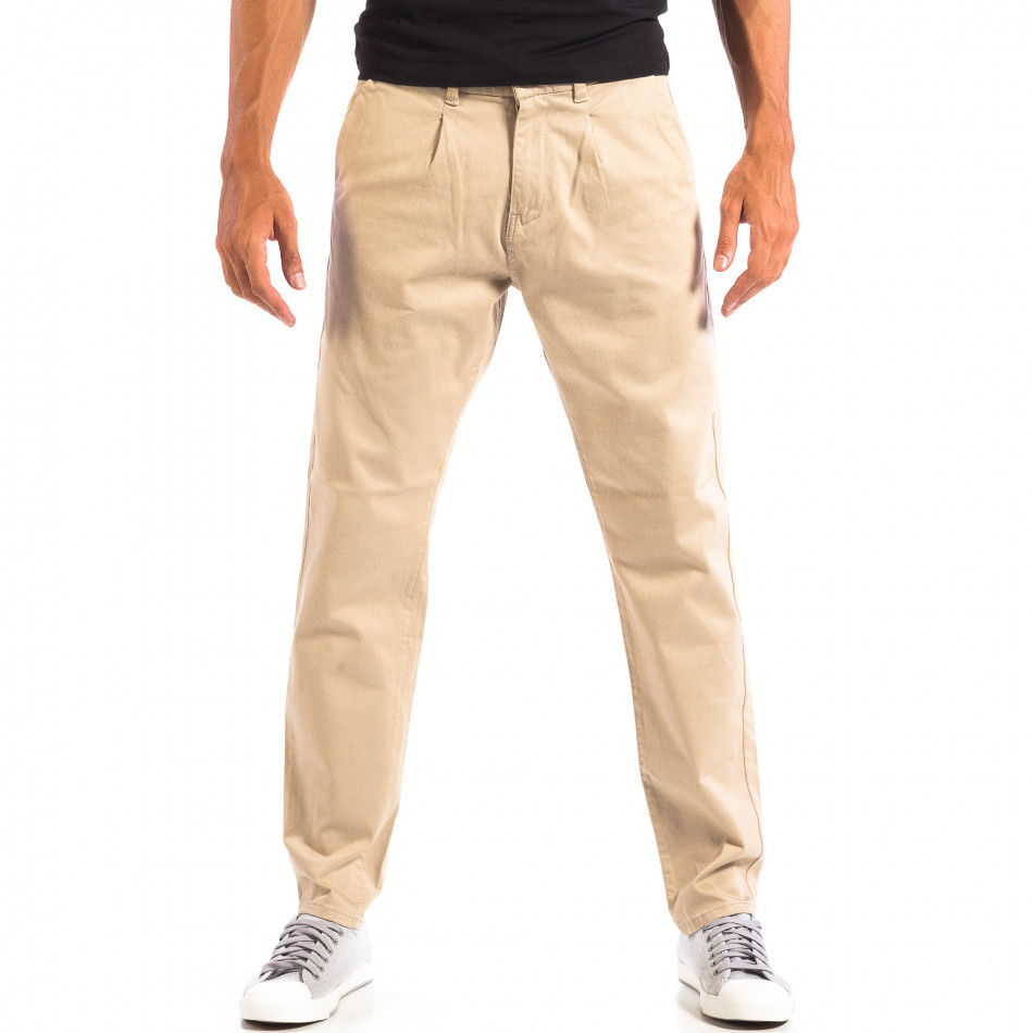 Ανδρικό μπεζ παντελόνι RESERVED lp060818-103