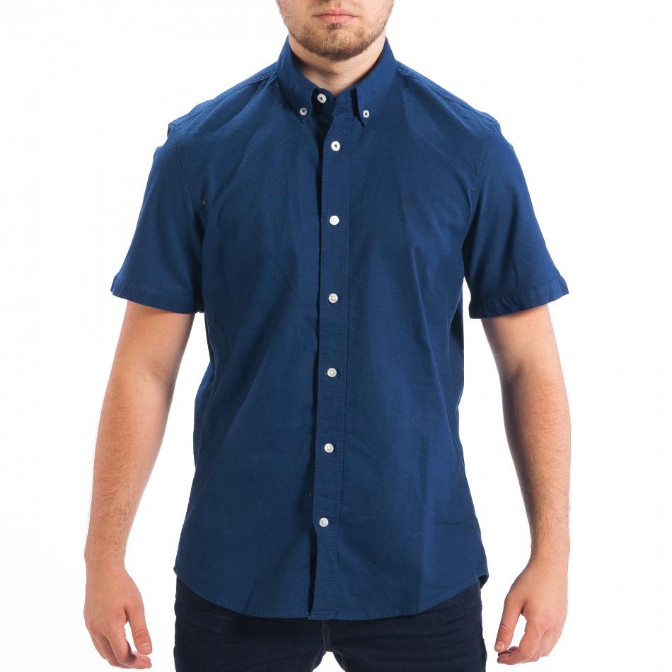Ανδρικό γαλάζιο κοντομάνικο πουκάμισο RESERVED lp070818-146