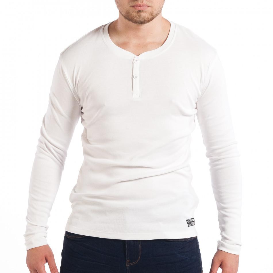 Ανδρική ελαστική λευκή μπλούζα House lp070818-31