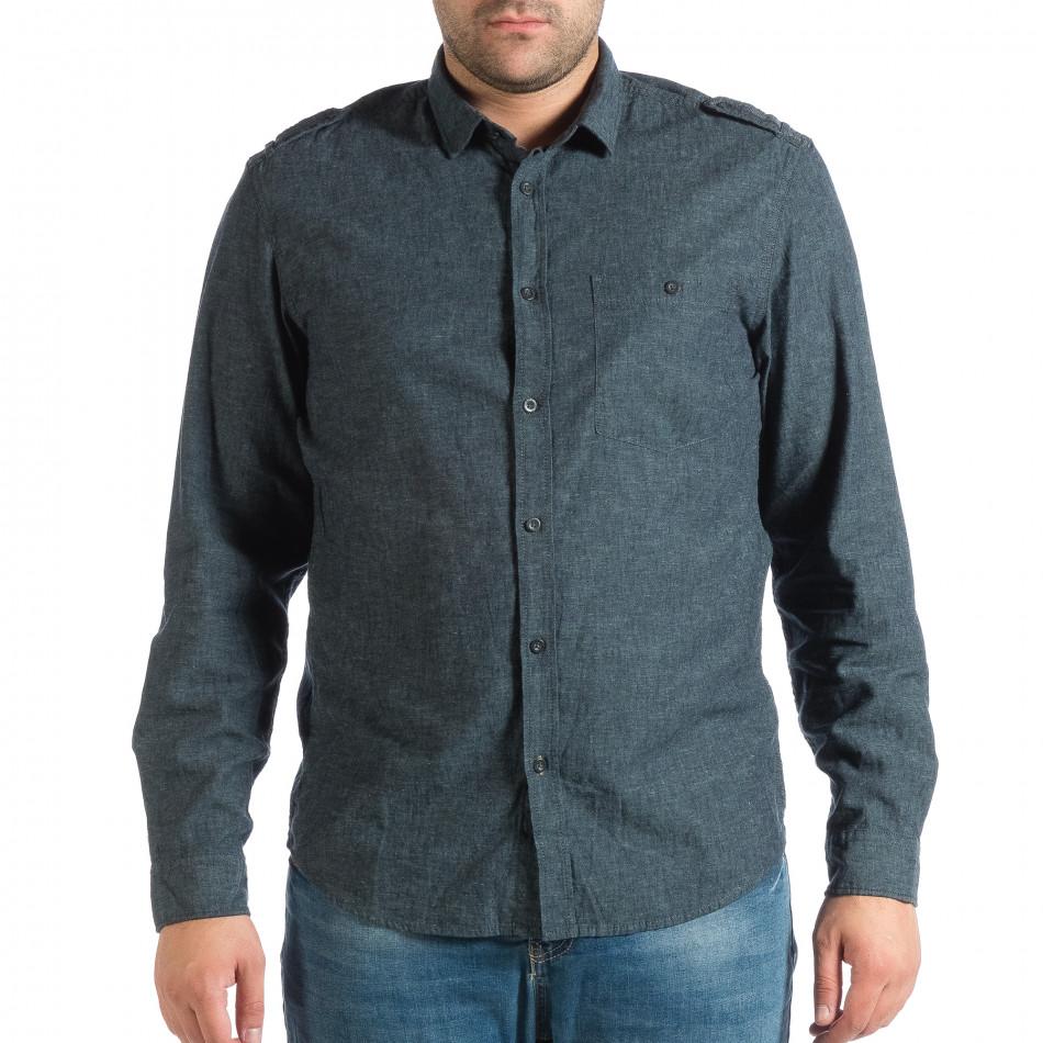 Ανδρικό γαλάζιο πουκάμισο RESERVED lp290918-175