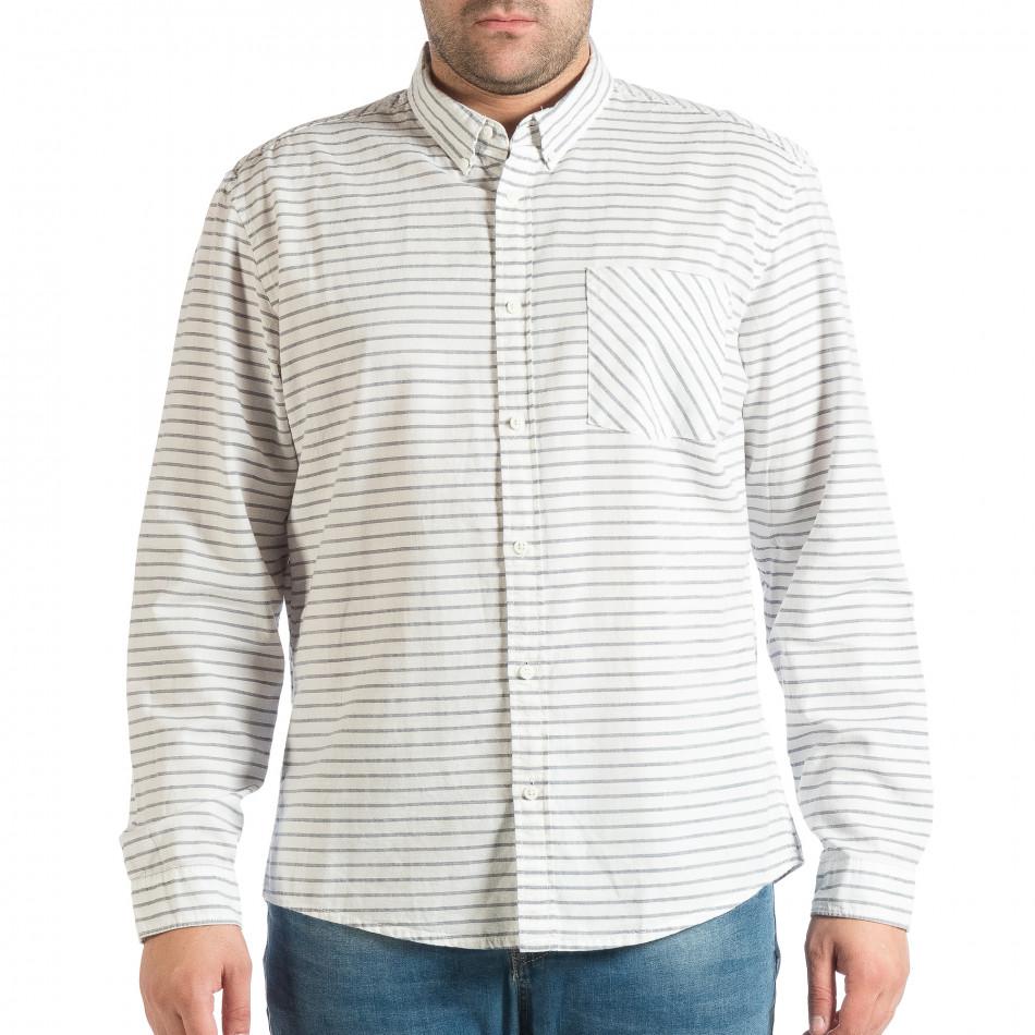 Ανδρικό λευκό πουκάμισο lp290918-184