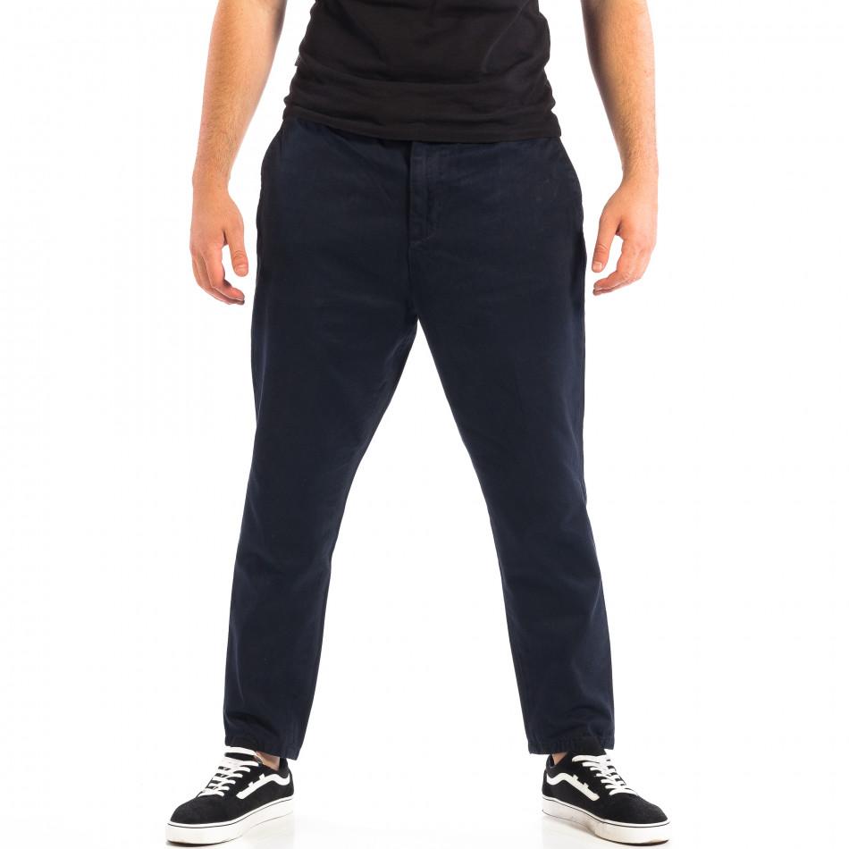 Ανδρικό μπλε Cropped παντελόνι RESERVED lp060818-87