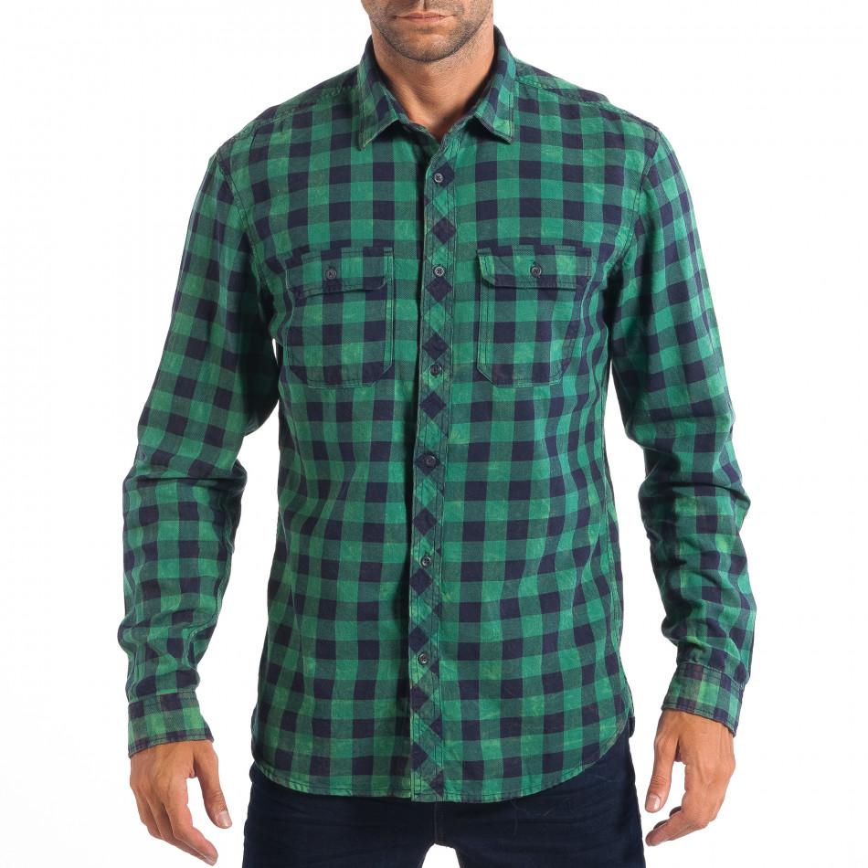 Ανδρικό πράσινο καρέ πουκάμισο Regular fit RESERVED lp070818-114 ... e568f2fbb72