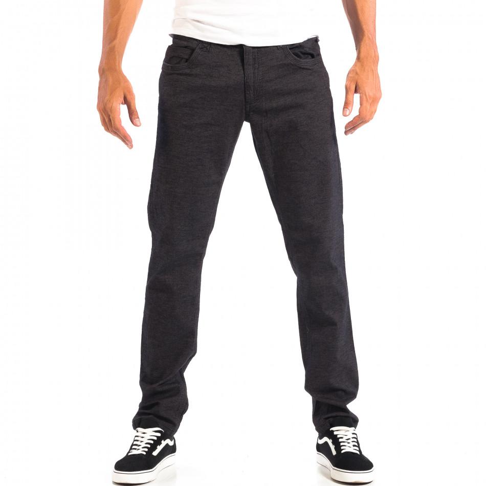 Ανδρικό μαύρο Slim παντελόνι RESERVED lp060818-111