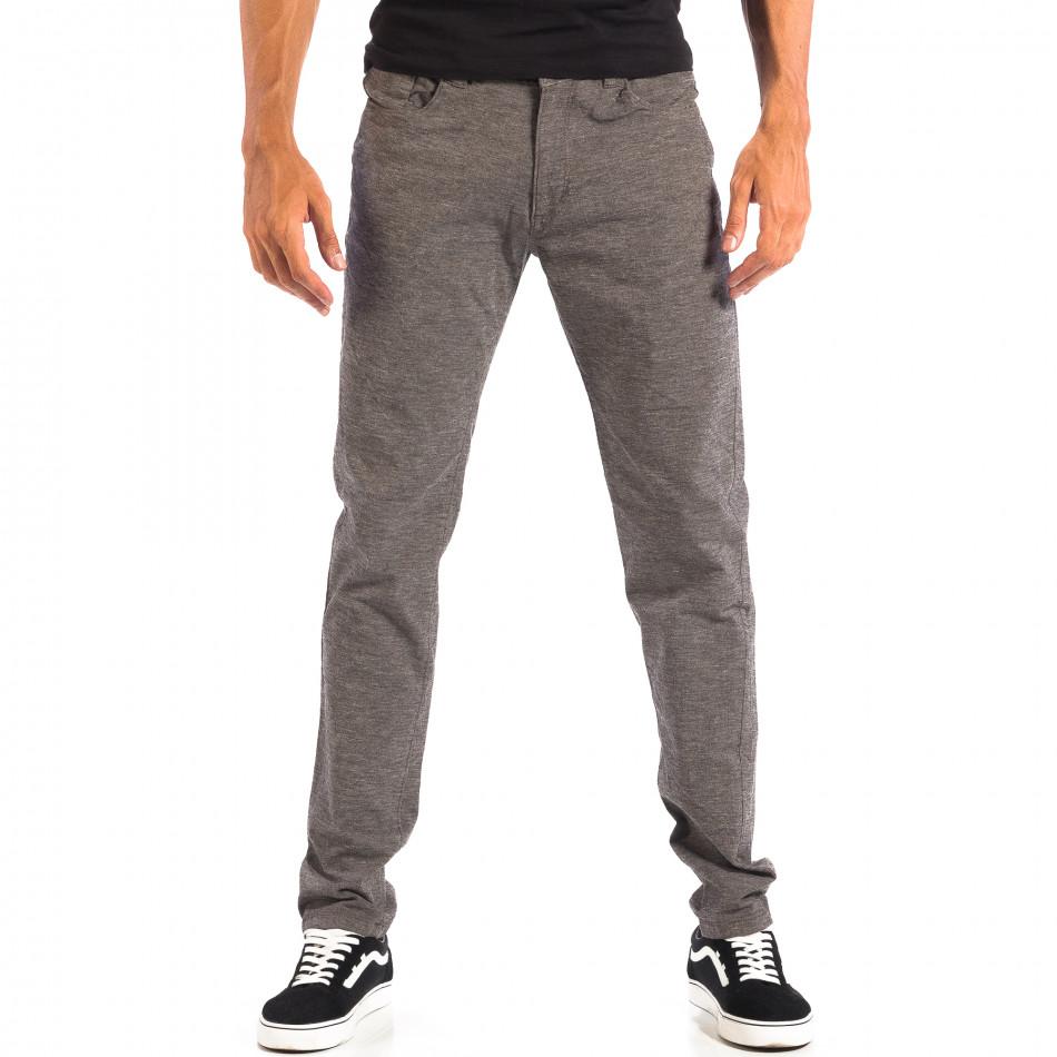 Ανδρικό γκρι Slim παντελόνι RESERVED lp060818-105