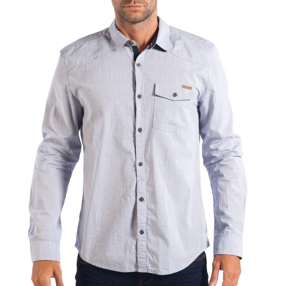 Ανδρικό λευκό πουκάμισο CROPP lp070818-131