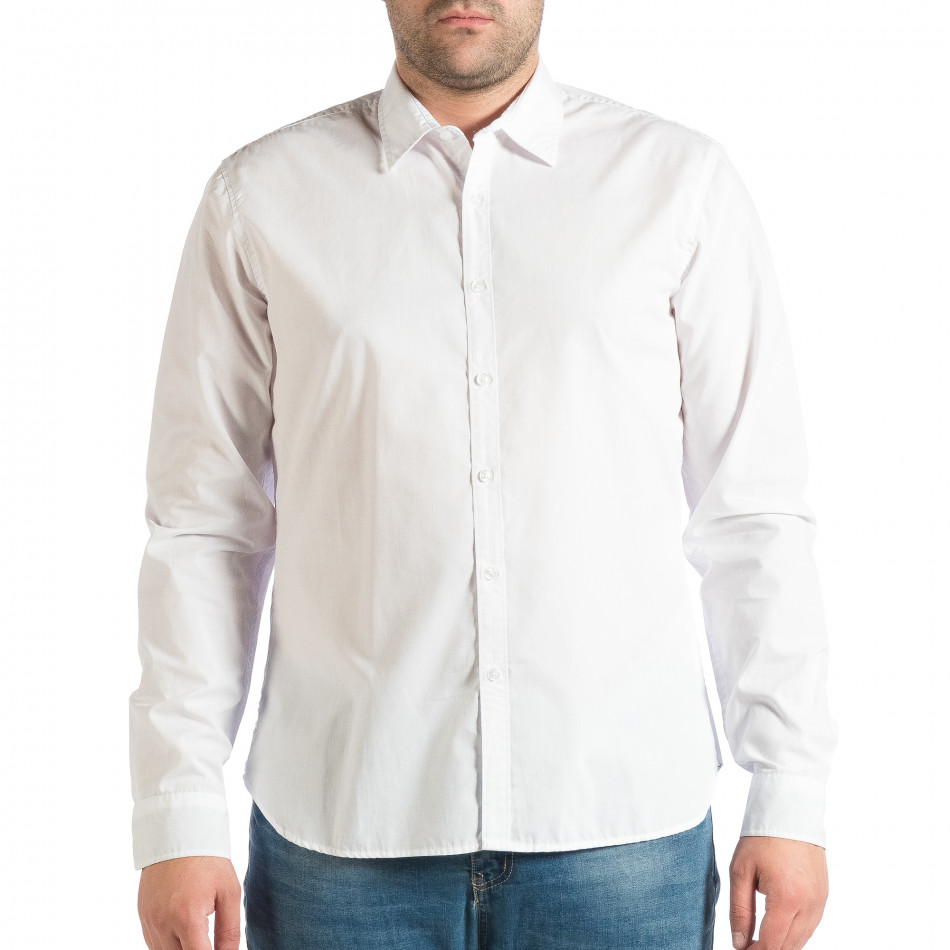 Ανδρικό λευκό πουκάμισο RESERVED lp290918-177