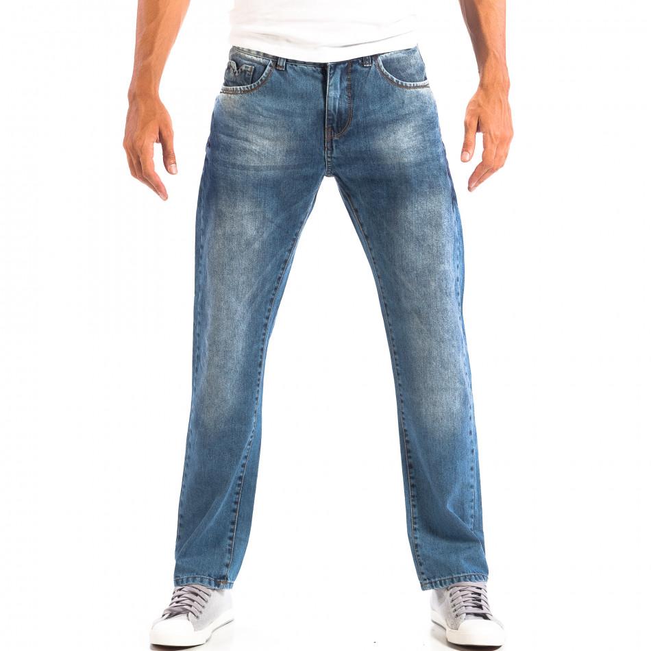 Ανδρικό γαλάζιο τζιν ρέτρο στυλ House lp060818-29