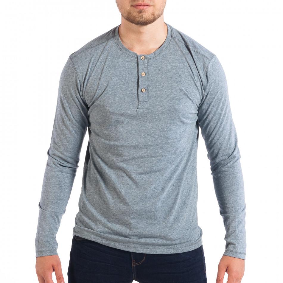 Ανδρική γαλάζια μπλούζα lp070818-50