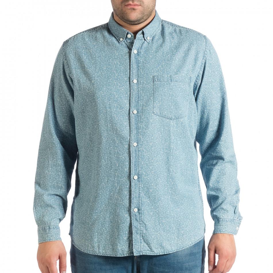 Ανδρικό γαλάζιο πουκάμισο lp290918-178
