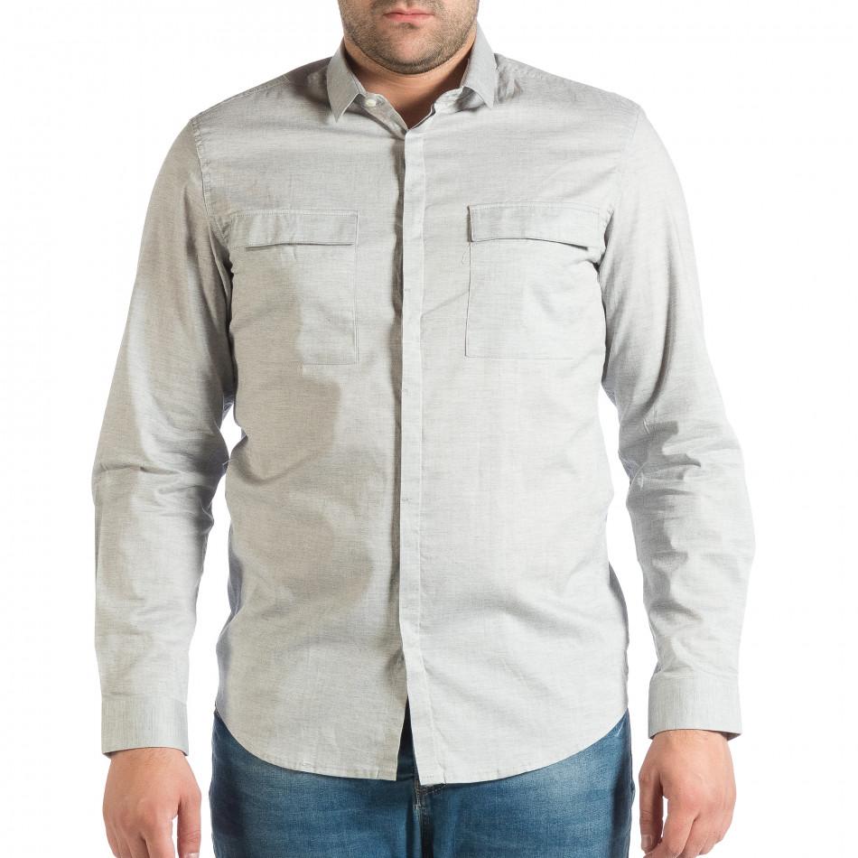 Ανδρικό γκρι πουκάμισο RESERVED lp290918-185