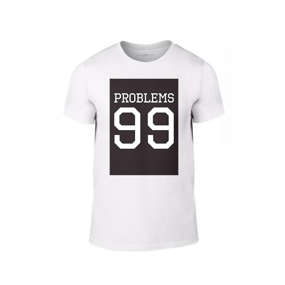 7002a64dd78e Κοντομάνικη μπλούζα 99 Problems Aint 1 λευκό Χρώμα Μέγεθος XL ...