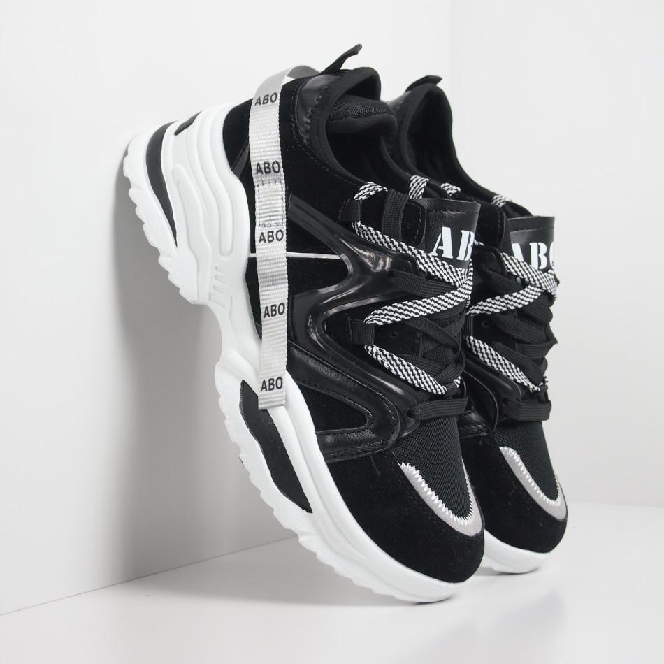 Ανδρικά Chunky μαύρα αθλητικά παπούτσια  it130819-29