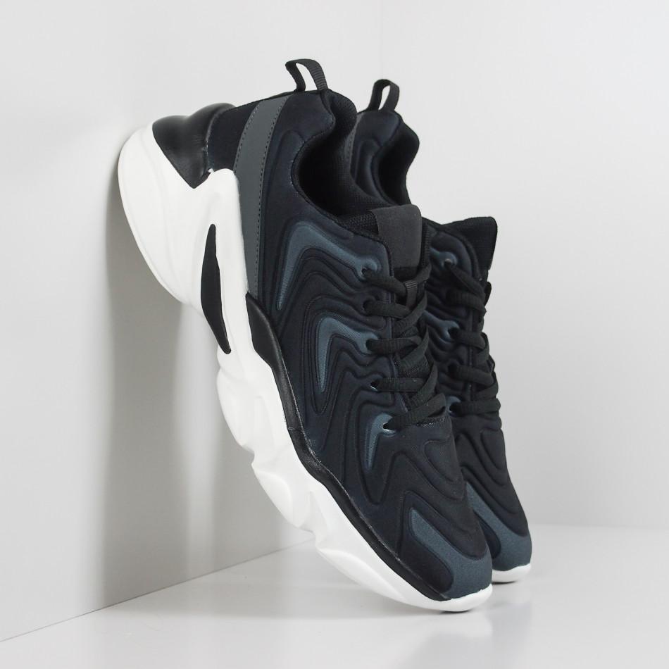 Ανδρικά μαύρα αθλητικά παπούτσια  it201219-4