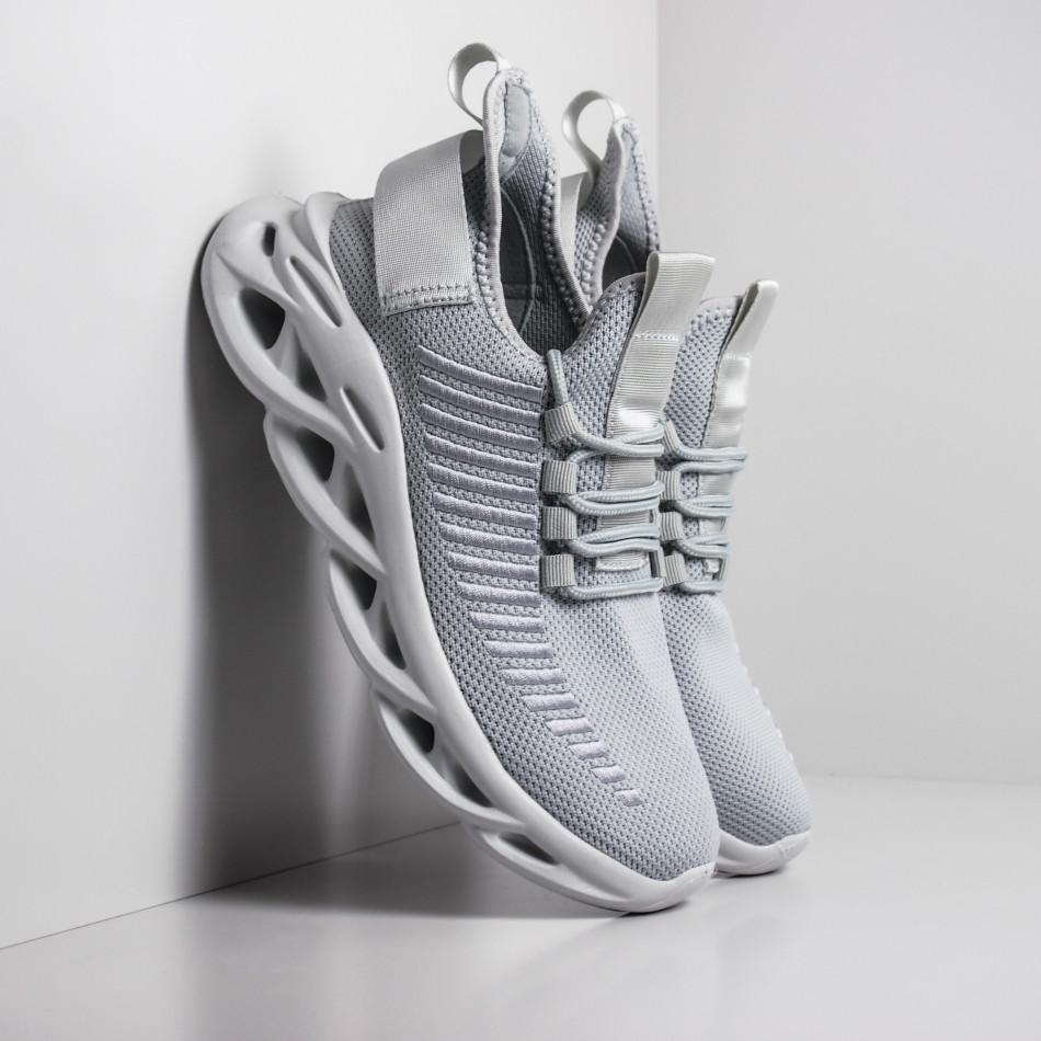 Ανδρικά γκρι αθλητικά παπούτσια Rogue  it281119-1