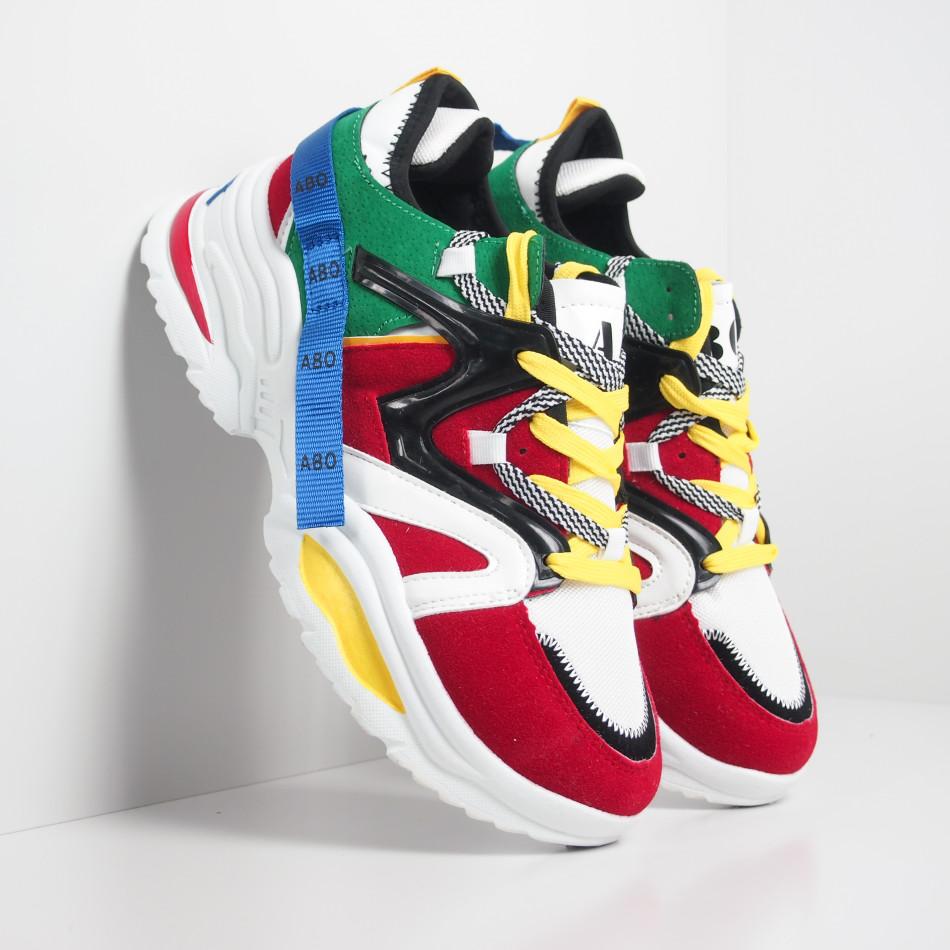 Ανδρικά Chunky πολύχρωμα αθλητικά παπούτσια it270819-1