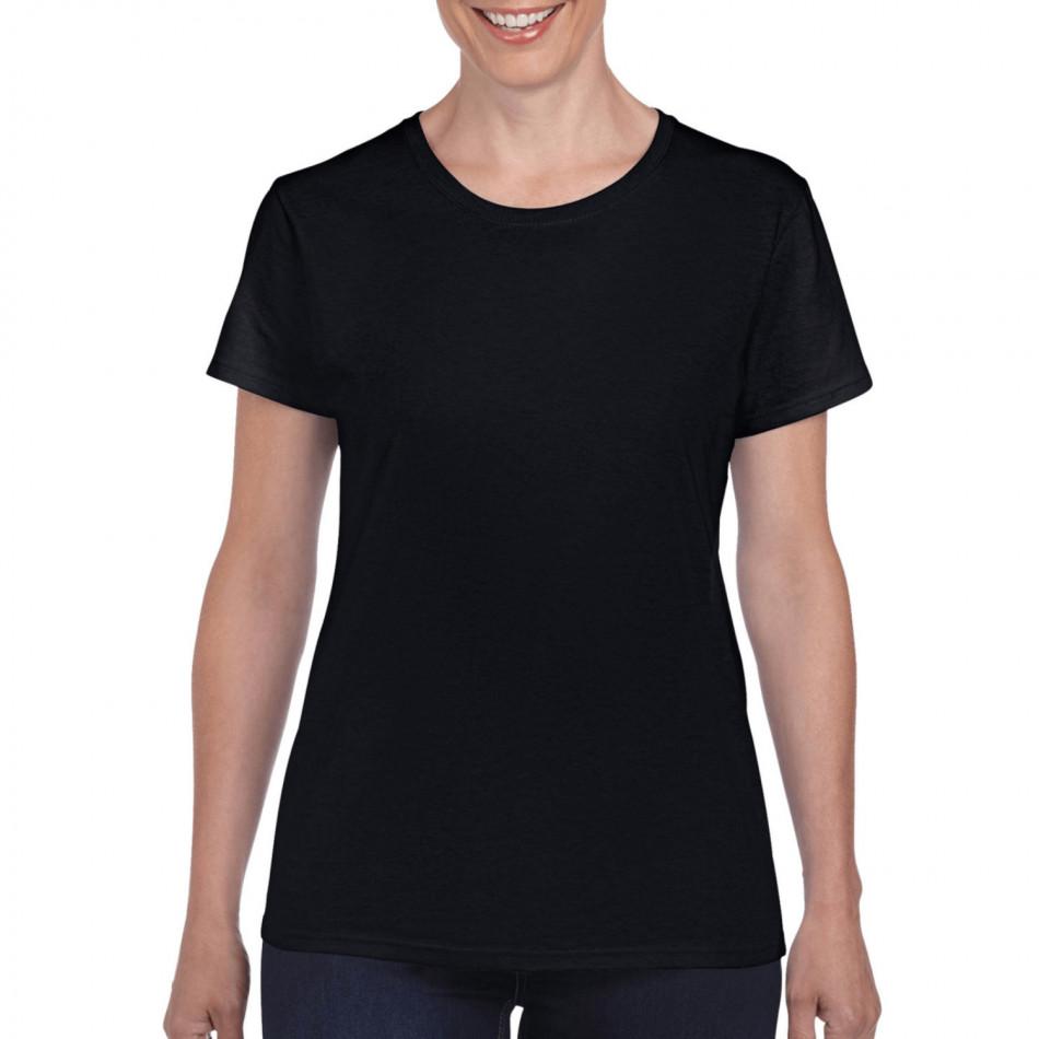 Γυναικεία μαύρη κοντομάνικη μπλούζα Basic tmn060120-3