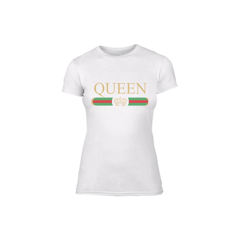 Γυναικεία Μπλούζα Fashion King Queen λευκό Χρώμα Μέγεθος L TMNLPF244L