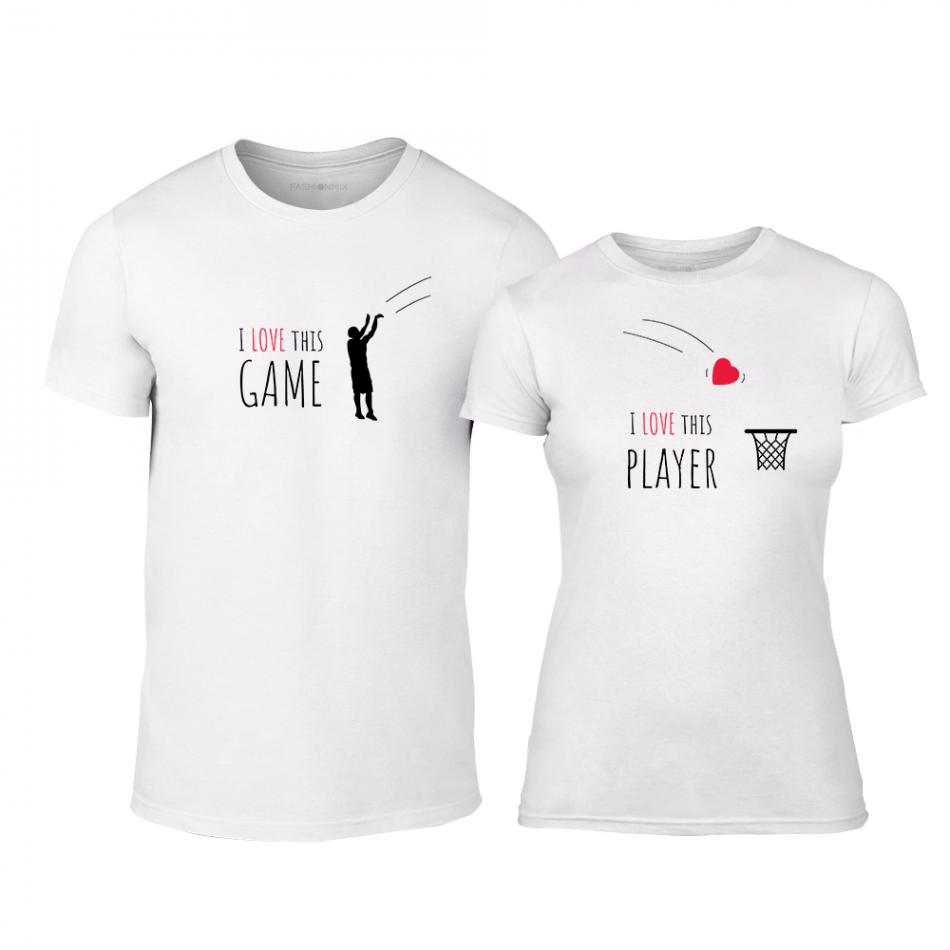 Μπλουζες για ζευγάρια Basketball λευκό TMN-CP-207