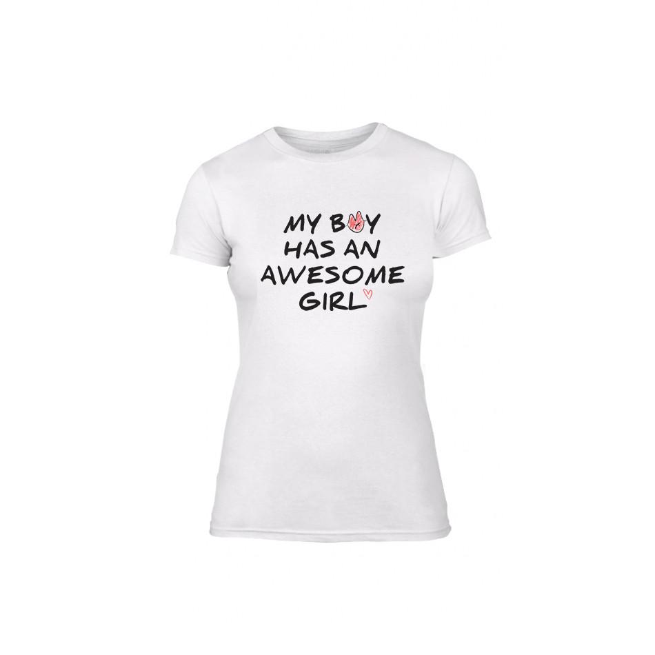 Γυναικεία Μπλούζα The Awesome Boy & Girl λευκό Χρώμα Μέγεθος M TMNLPF066M