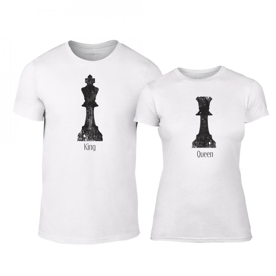 Μπλουζες για ζευγάρια Chess λευκό TMN-CP-111