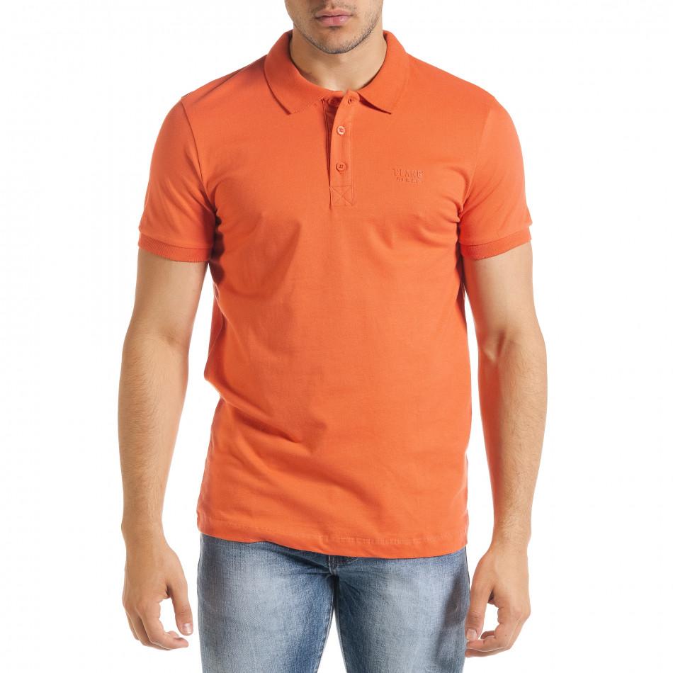 Ανδρική πορτοκαλιά πολο Clang tr080520-54