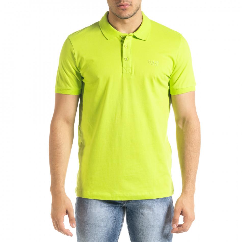 Ανδρική πράσινη πολο Clang tr080520-55
