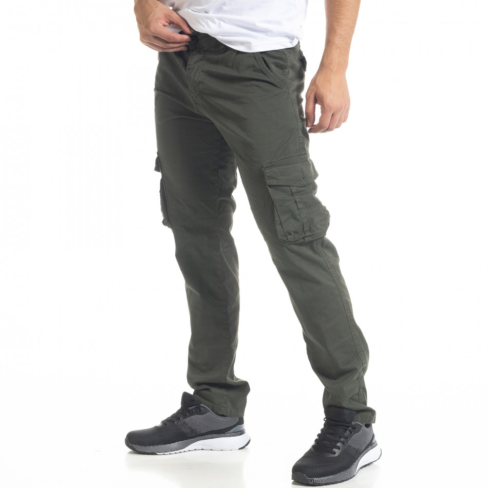Ανδρικό πράσινο παντελόνι cargo Blackzi tr201120-3