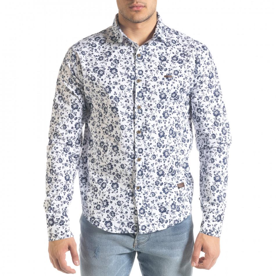 Ανδρικό λευκό πουκάμισο Flyboys tr240420-37