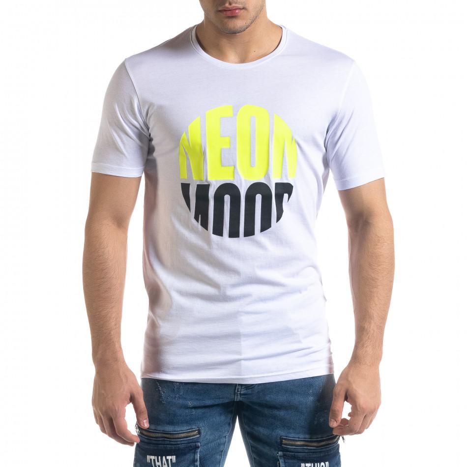 Ανδρική λευκή κοντομάνικη μπλούζα Breezy tr110320-41