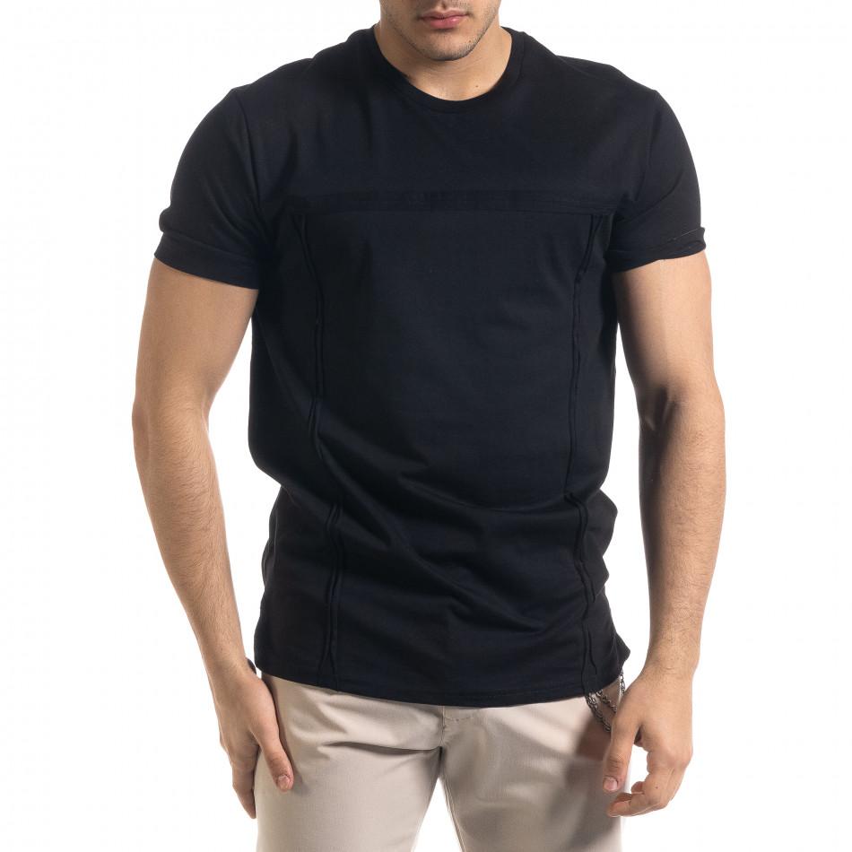 Ανδρική μαύρη κοντομάνικη μπλούζα Vae Victis tr110320-77