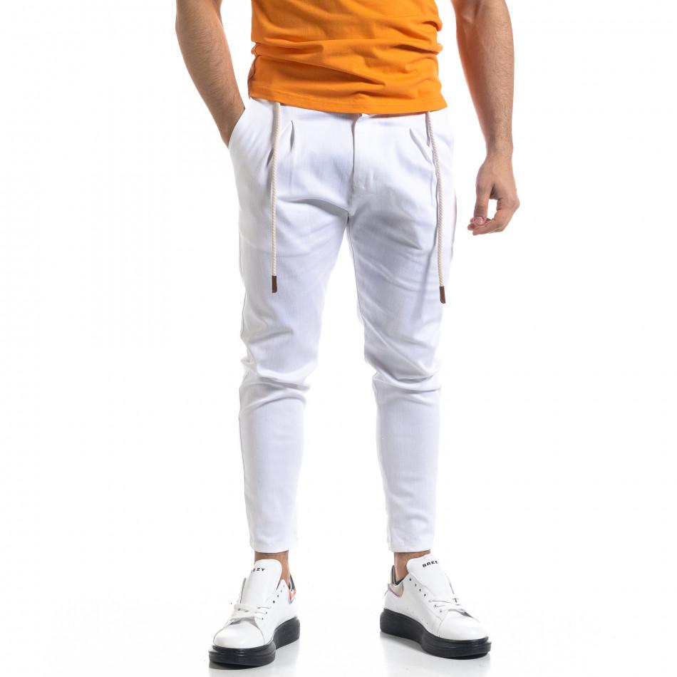 Ανδρικό λευκό παντελόνι Open tr110320-121