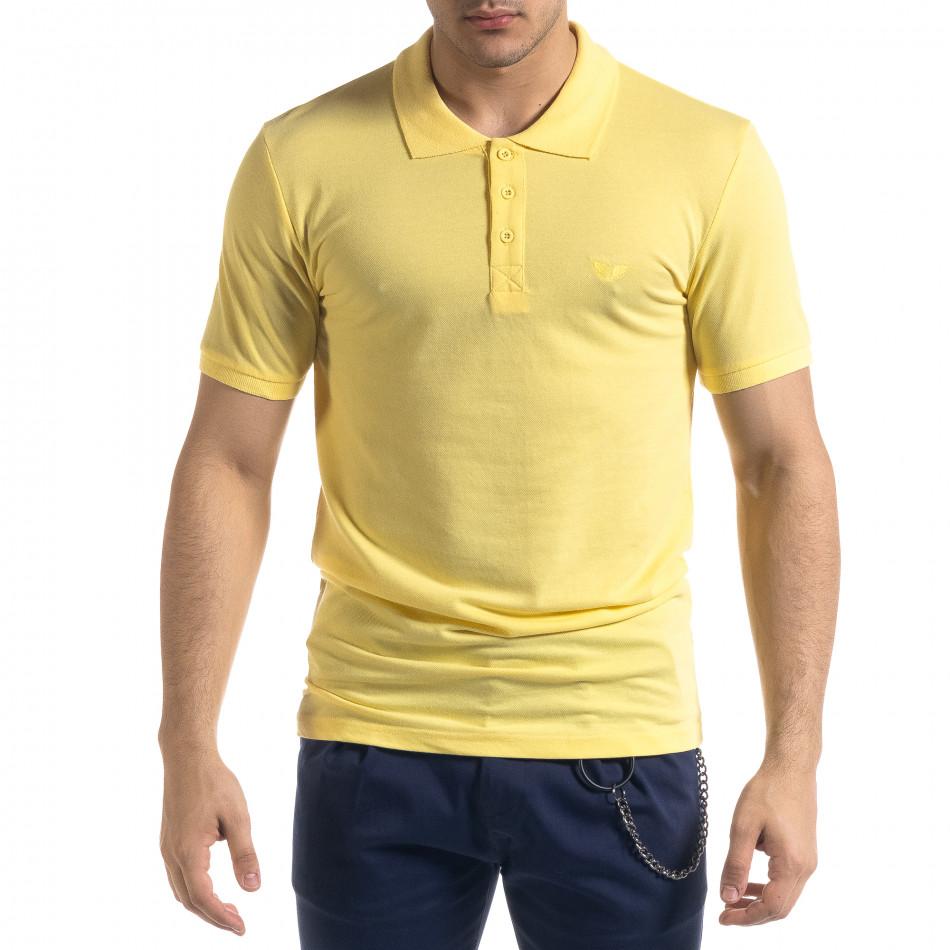 Ανδρική κίτρινη πολο Lagos tr110320-17