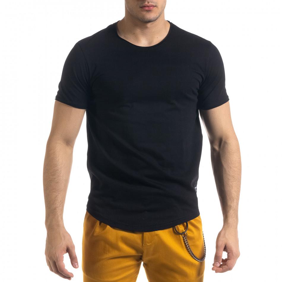 Ανδρική μαύρη κοντομάνικη μπλούζα Clang tr110320-67