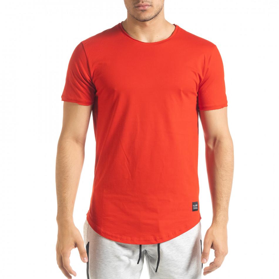 Ανδρική κόκκινη κοντομάνικη μπλούζα Clang tr080520-39