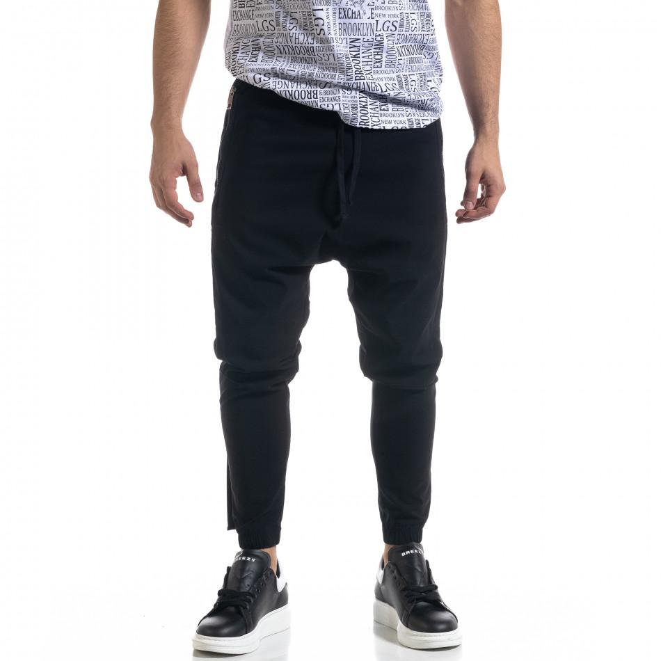 Ανδρικό μαύρο παντελόνι Open tr110320-126