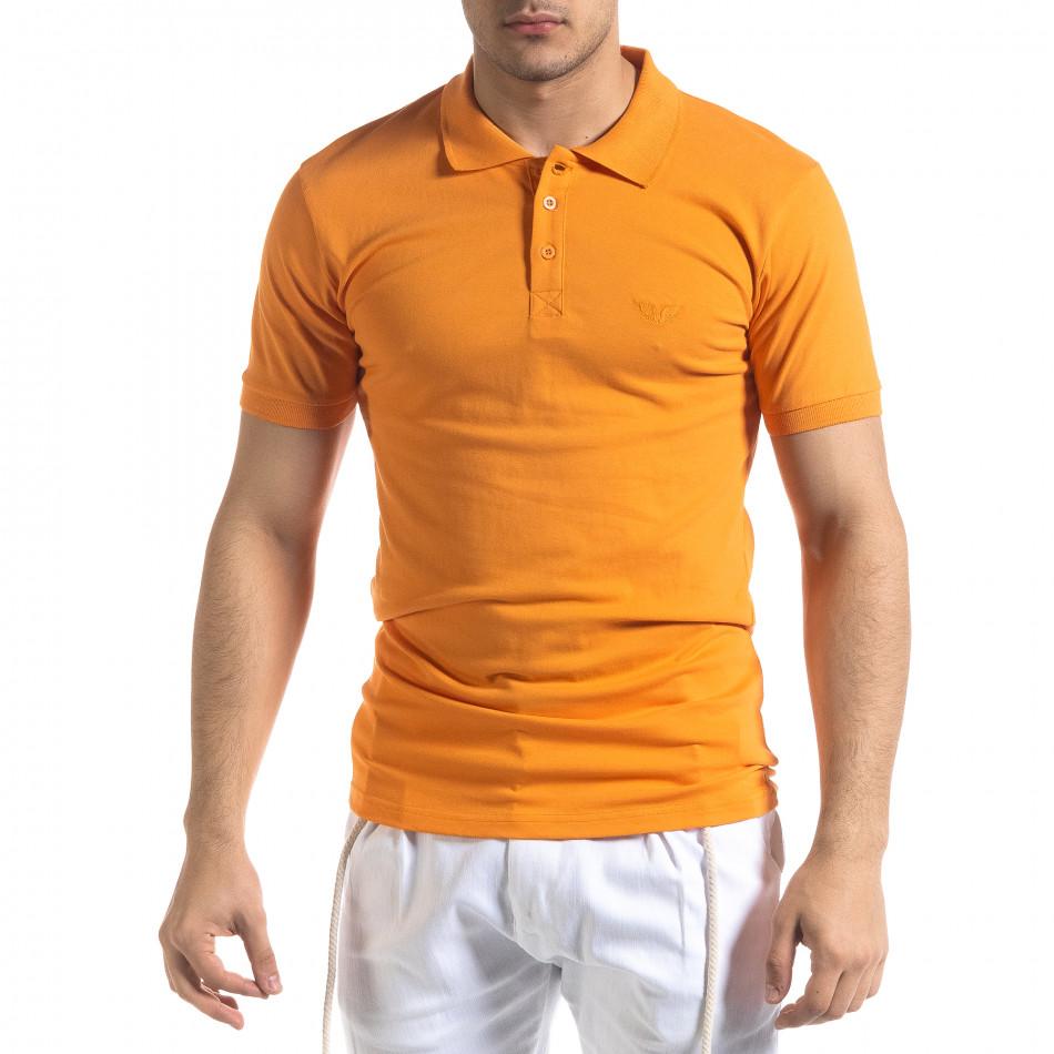 Ανδρική πορτοκαλιά πολο Lagos tr110320-15