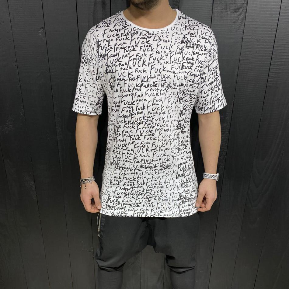 Ανδρική λευκή κοντομάνικη μπλούζα Black Island tr110320-88